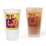 Ecto Radio Yellow Text Drinking Glass