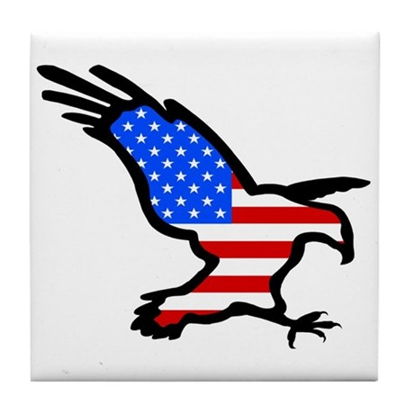 Stars and Stripes Eagle Tile Coaster