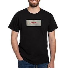 Save Beirut Merchandise Black T-Shirt