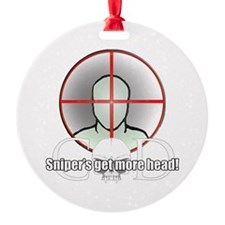 snippers head.png Round Ornament