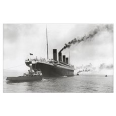 Titanic ready for her maiden voyage, 02 April 1912 Poster
