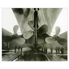 The Titanic's propellers in the Thompson Graving D Framed Print