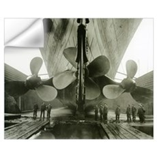The Titanic's propellers in the Thompson Graving D Wall Decal