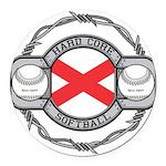 Alabama Softball Round Car Magnet