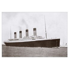 RMS Titanic of the White Star Line Poster