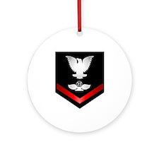 Navy PO3 Air Traffic Control Ornament (Round)