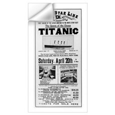 Poster advertising the voyage of the Titanic from Wall Decal