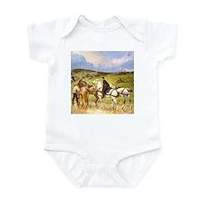 CHANGING HORSES Infant Creeper