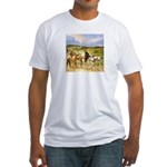 CHANGING HORSES Fitted T-Shirt