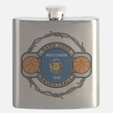 Wisconsin Basketball Flask