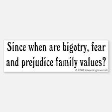 family values Bumper Bumper Bumper Sticker