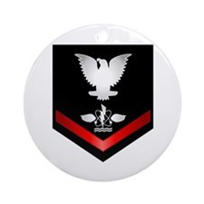 Navy PO3 Aviation Antisub Ornament (Round)