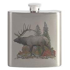 bull elk Flask