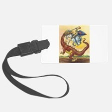 Knight and Dragon Luggage Tag