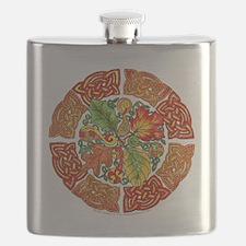 Celtic Autumn Leaves Flask