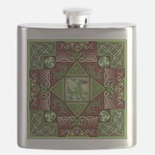Celtic Dragon Labyrinth Flask