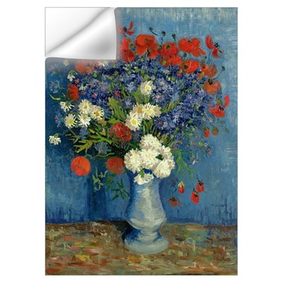 Still Life: Vase with Cornflowers and Poppies, 188 Wall Decal