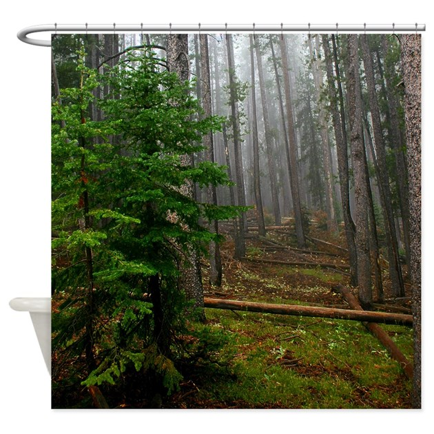 pine forests 2 shower curtain by saltypro shop