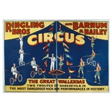 Poster advertising the 'Ringling Bros. and Barnum Poster