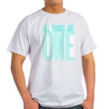 All Things Are ONE Ash Grey T-Shirt