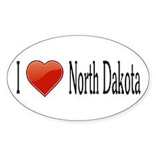 I Love North Dakota Decal