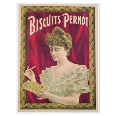 Poster advertising Pernot biscuits, c.1902 (colour Poster