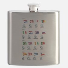 Soccer Balls And Flags Flask