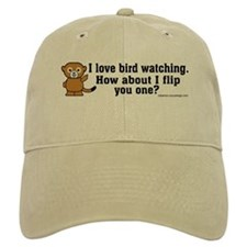 Happy Monkey - Bird Flipping Baseball Cap