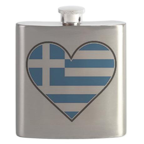 Greek heart flag Flask
