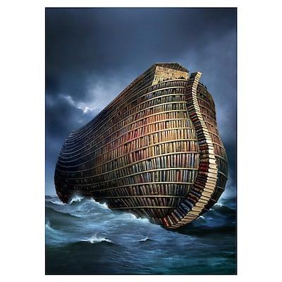 Literary ark, conceptual artwork Poster