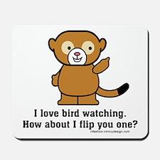Happy Monkey - Bird Flipping Mousepad