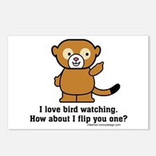 Happy Monkey - Bird Flipping Postcards (Package of