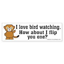 Happy Monkey - Bird Flipping Bumper Bumper Sticker