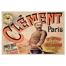 Poster advertising Clement bicycles, 1889 (colour