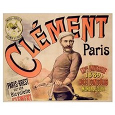 Poster advertising Clement bicycles, 1889 (colour  Framed Print