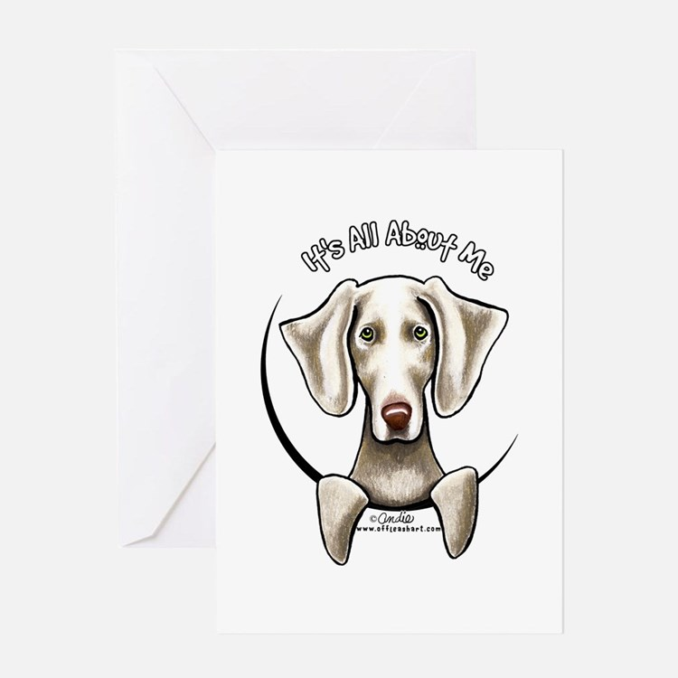 Weimaraner IAAM Greeting Card