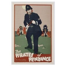 Poster advertising 'The Pirates of Penzance', c.19 Framed Print
