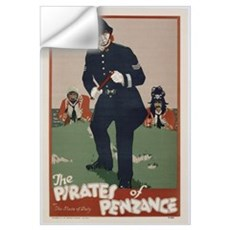 Poster advertising 'The Pirates of Penzance', c.19 Wall Decal