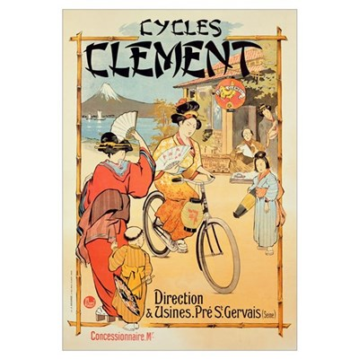 Poster advertising 'Cycles Clement', Pre Saint-Ger Poster