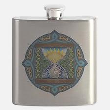 Celtic Sun-Moon Hourglass Flask