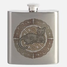 Celtic Cat Flask