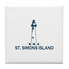 St. Simons Island - Lighthouse Design. Tile Coaste