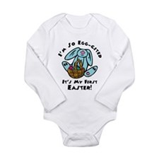 Eggcited First Easter Long Sleeve Infant Bodysuit