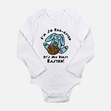 Eggcited First Easter Long Sleeve Infant Bodysuit