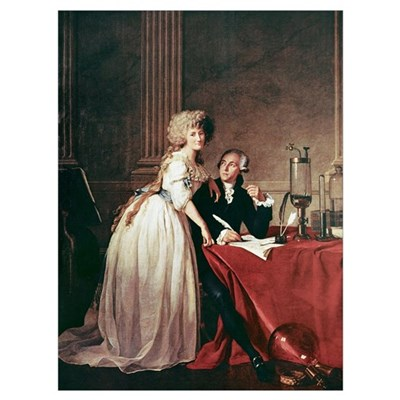 Lavoisier and his wife, 1788 Poster