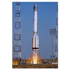 Launch of Proton-K rocket Canvas Art