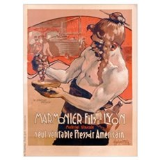 Advertisement for Marmonier Fils-Lyon, c.1910 (col Framed Print
