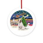 XmasMagic-Clumber Spaniel Ornament (Round)