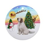 Take Off - Clumber Spaniel Ornament (Round)