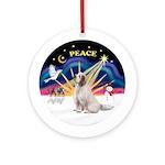 Xmas Sunrise - Clumber Spaniel Ornament (Round)
